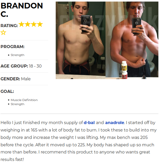 Brandon Increased His Bench by 201lbs with Anadrol