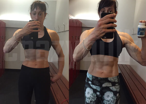 Shawna Before and After CrazyBulk for Women