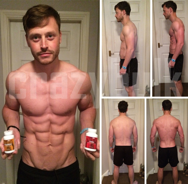 Before and After CrazyBulk Cutting Stack