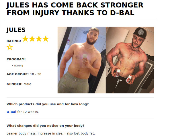 Jules increases strength and Got Ripped