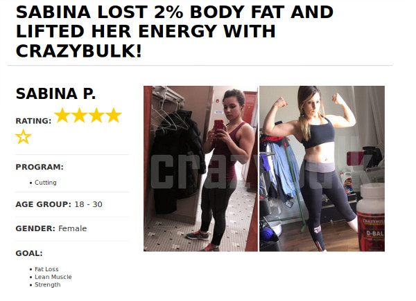 Sabina Lost 2% Bodyfat Using Crazy Bulk D-Bal