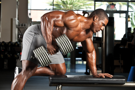 One arm dumbbell rows