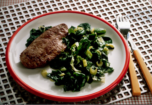 Beef Calf Liver and Spinach