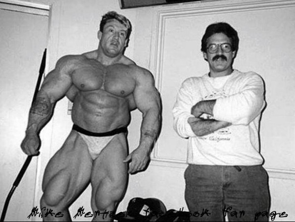 Young Dorian Yates With Mike Mentzer