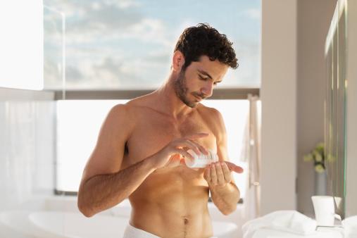 Skinny Guy Taking supplements