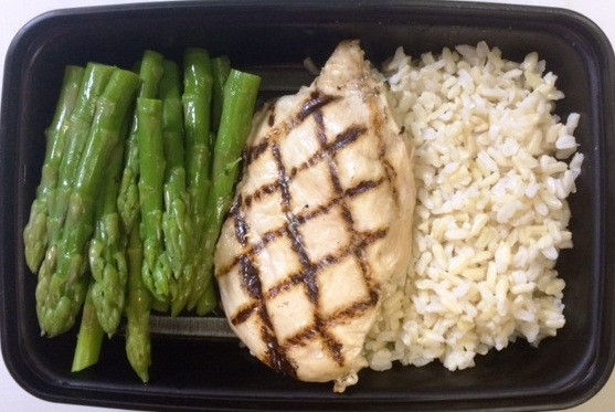Grilled Chicken Breasts and White Rice