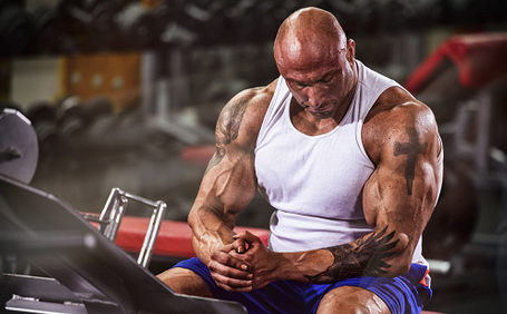 Male Bodybuilder Focusing