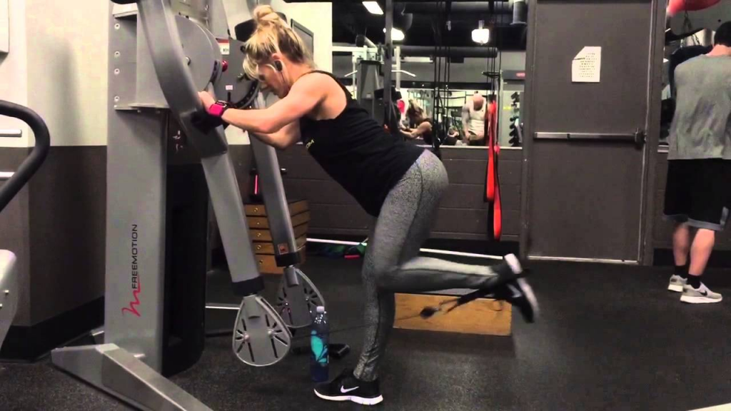 Woman Doing Glute KickBacks