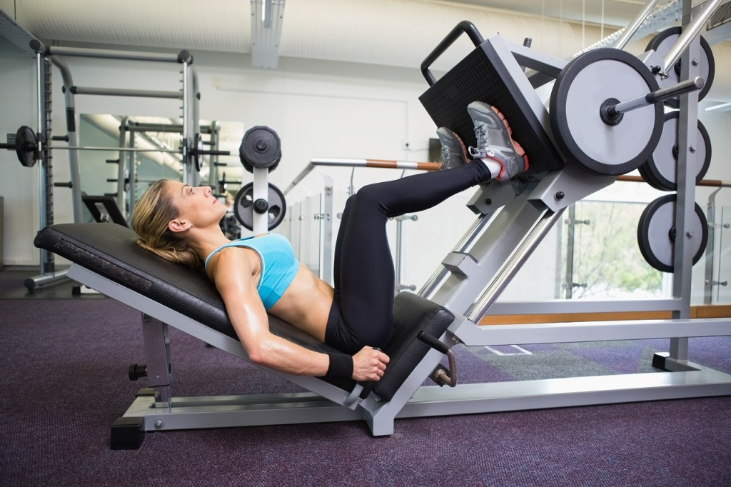 Woman Performing Leg Press