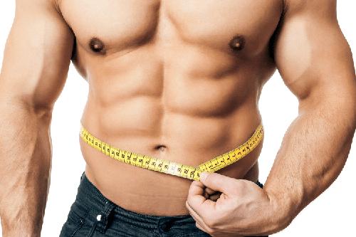 Bodybuilder Measuring Waist