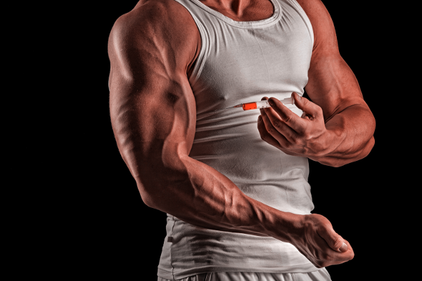 Bodybuilder Injecting Steroids