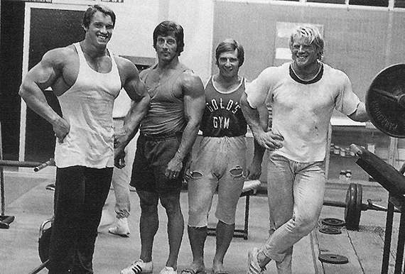 Arnold and Frank Zane