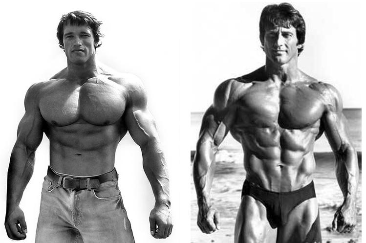 Arnold Schwarzenegger and Frank Zane