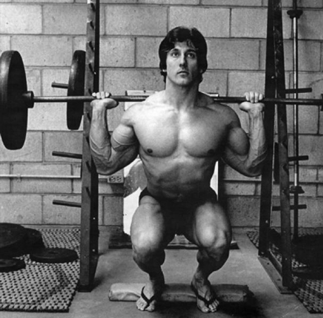 Frank Zane Doing Squats