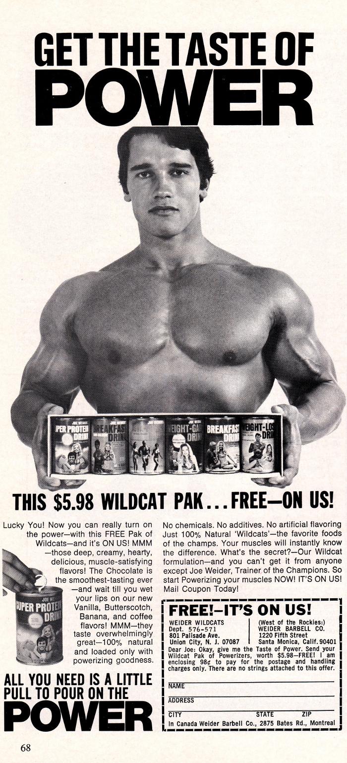 Arnold Schwarzenegger Protein Powder