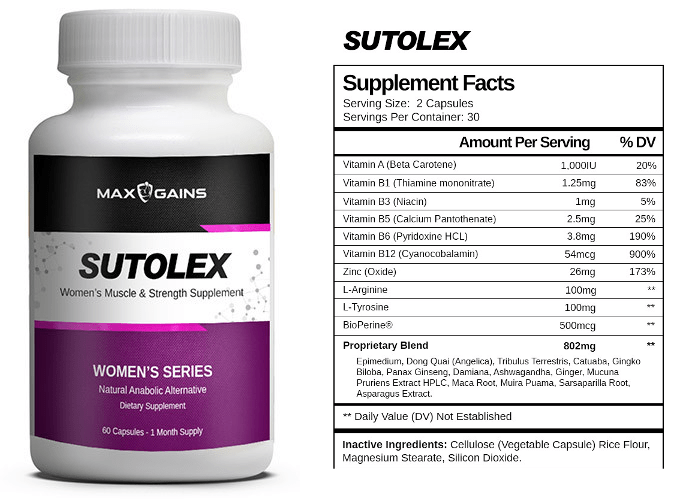 Max Gains Sutolex for women