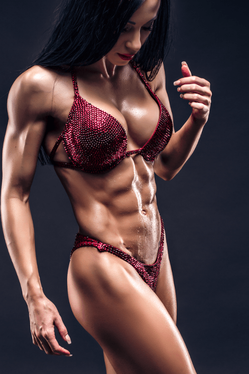 Ripped Female Bodybuilder Posing