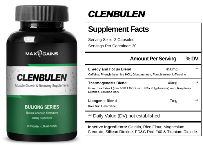 Max Gains Clenbulen (Clenbuterol Alternative)