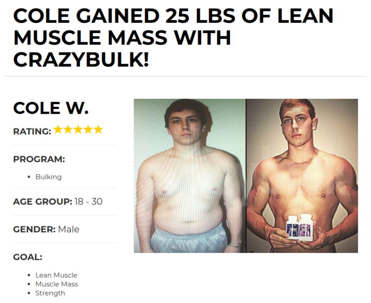 Cole Gained 26 lbs of Muscle With the Bulking Stack