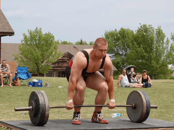 Man Doing Dead lifts