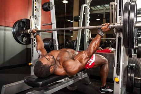 Man Performng Reverse Grip BenchPress
