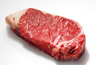 Fresh uncooked cut of beef
