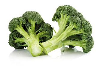 Fresh cut broccoli