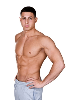 Young Man Posing With Shirt Off