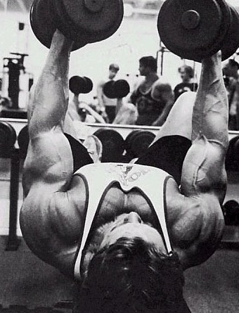 Arnold Schwarzenegger incline bench press