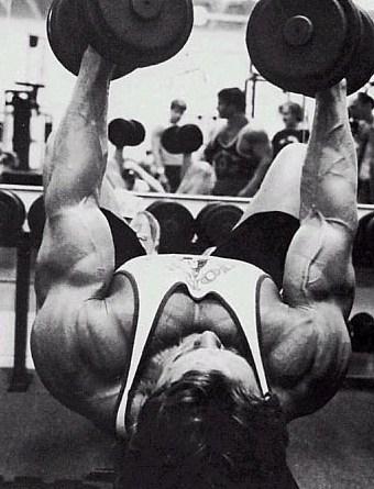 Arnold Schwarzenegger incline bench press