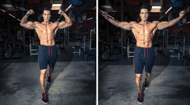 Overhead Bicep Cable Pulley Curl