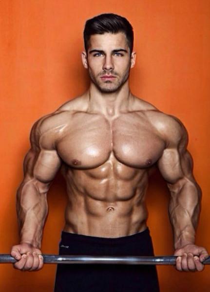 Strong Bodybuilder Flexing