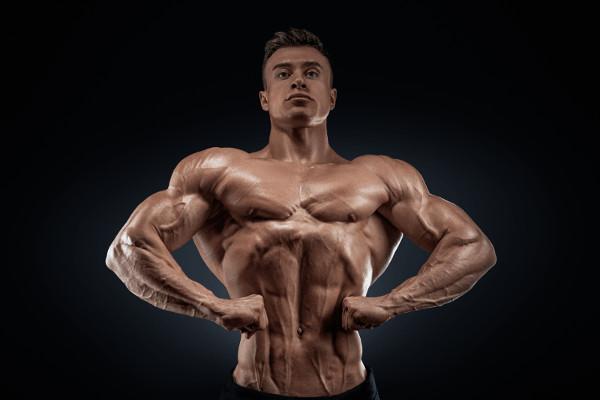 Man Flexing Posing