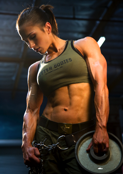 shredded female bodybuilder