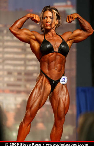 posing female bodybuilder