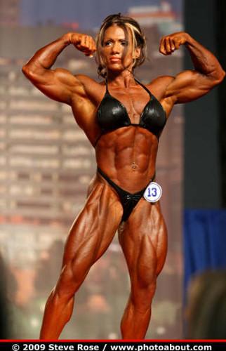 posing female bodybuilder